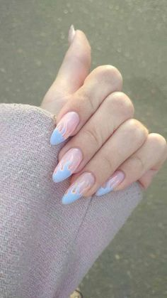 Looking for easy nail art ideas for short nails? Look no further here are are quick and easy nail art ideas for short nails. Pastel Color Nails, Nail Colors, Blue Nails Art, Purple Nail, Nude Color, Pink Color, Best Acrylic Nails, Acrylic Nail Designs, Winter Acrylic Nails