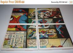 The Amazing Spiderman Comic Book Ceramic Tile by JennsCoasterCrazy