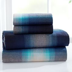 ombre plaid beautiful blanket inspiration