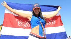 Aficion Tica, Partido Costa Rica - Inglaterra, Mundial de Futbol Brasil 2014