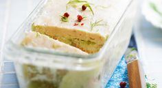 Recette de #terrine de #poisson Fish And Chips, Seafood Recipes, Vanilla Cake, Feta, Entrees, Buffet, Cheesecake, Pudding, Nutrition