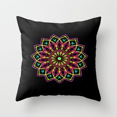 Stained Glass Throw Pillow by Designs By Misty Blue (Misty Lemons) - $20.00