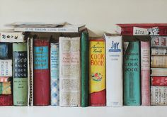 Post with 16 votes and 948 views. A painting of a row of vintage 'Cookbooks'. Vintage Tea, Vintage Books, Vintage Baking, Vintage Dishes, Vintage Recipes, Vintage Kitchen, Love Letter To Her, Vintage House Plans, Surprise Box