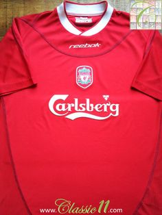 Relive Liverpool s 2002 2003 season with this vintage Reebok home football  shirt. Liverpool Home 95313bc7def2d