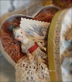 Doll in Heart Box a Sweet Valentine by Nicol Sayre Doll Shoppe