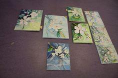 Kirschblüten als Motiv für die Aquarellmalerei | Kirschblüten als Aquarell auf Leinwand (c) Frank Koebsch