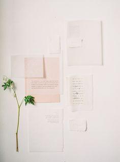 Fine art wedding modern invitation with velum paper by Plume Calligraphy.
