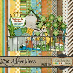 Digital Scrapbooking Zoo Adventures Kit By Dandelion Dust Designs #DandelionDustDesigns #DigitalScrapbooking