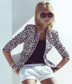 Blazer, black top & white shorts <3
