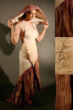 Alyssa McNamara from ROOTED | Spring 2009,  My line emphasizes the natural world. All fabric used is either 100% silk or cotton, and hand dyed with various techniques to epitomize the part of nature that each individual piece based on...mushroom.
