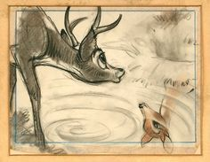 Storyboard from Bambi