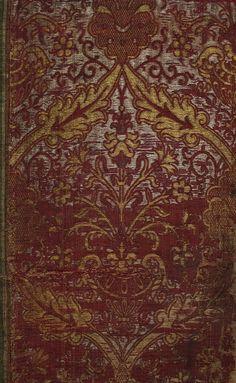 Antique Italian Textile,Silk Brocade Extremely Rare Textile  15th or 16th Century