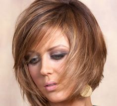 21 Awesome Hairstyles in Winter's Hottest Colors: #8. Brown bob with caramel highlights