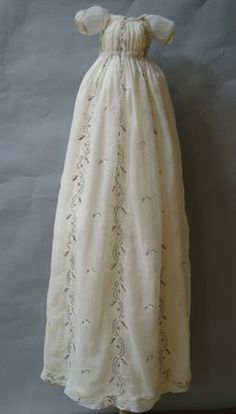 Baptism dress, 1810  I want one this length