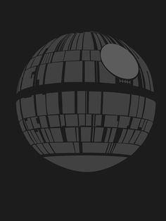 Death Star 8x10 Star Wars minimalist poster in black and grey