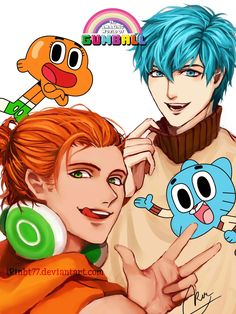 Disney & Cartoon In Anime - CN -The Amazing World Of Gumball - Página 3 - Wattpad Anime Vs Cartoon, Cartoon Kunst, Cartoon Fan, Cartoon Memes, Cartoon Drawings, Cartoon Ships, Disney Drawings, Cartoon Styles, Cartoon Characters As Humans