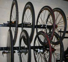 12 Bike Wheel Storage Rack