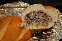 Just Call Me Lunch Lady: Sausage Stuffed French Loaf
