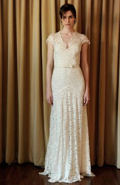 Temperley London 2013 Lace Sheath Bridal Gown Temperley London Spring 2013 Bridal Dress Collection