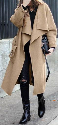 pretty camel Winter coat: an essential