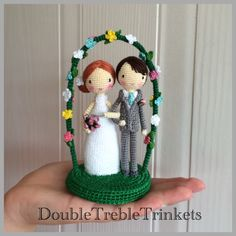 Wedding Cake Topper - Crocheted Wedding