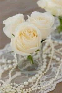 Lace And Pearls Vintage Wedding A Table Runner Would Be Nice But Wouldn
