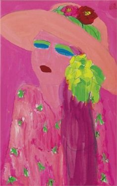 Lady in Pink - Walasse Ting