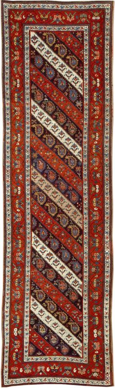 Caucasian Karabagh rug 28442  Width40 inches Length134 inches