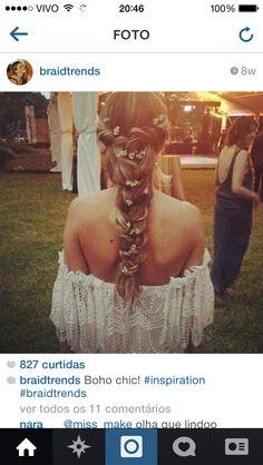 Braid hippie boho hairdo