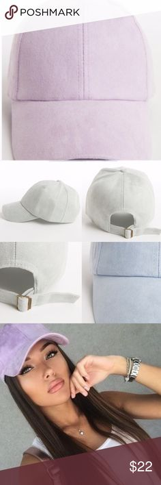 ⚜Faux Suede Baseball Cap-Purple⚜ Stylish, sporty and on trend faux suede baseball cap in purple⚜Spring Ready⚜ One size fits most with adjustable closure⚜Made in China Photo Credit: Pinterest and Fashionomics Fashionomics Accessories Hats
