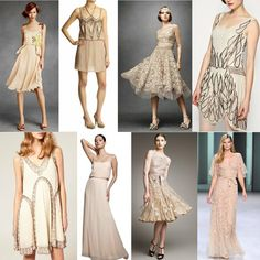 While I WOULD NOT want a great gatsby wedding- because I've ACTUALLY read the book- the dresses are beautiful. But I know someone would inevitably come up and ask if it's great gatsby inspired... And don't wanna insult someone's intelligence and roll my eyes at them on my wedding day...