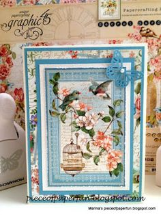 """Marina's piece of paper...: Kort med papirene fra Graphic 45 - """"Secret Garden"""""""