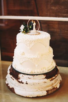 Vintage cake stand at The Farmhouse Weddings