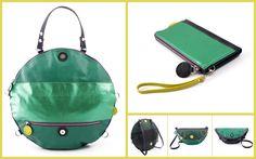 lengyelzsuzsi bags green
