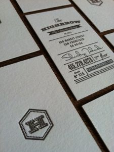 The Highbrow Men's Grooming Lounge Business Cards — Ian Vadas Brand Identity Design