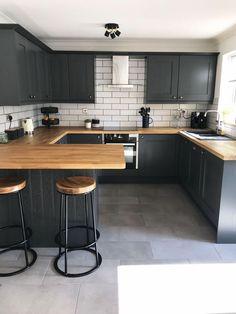 Kitchen Room Design, Home Room Design, Home Decor Kitchen, Kitchen Living, Interior Design Kitchen, New Kitchen, Home Kitchens, Modern Kitchen Designs, Small Kitchen Tiles