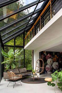 Patio Interior, Home Interior Design, Interior Architecture, Sustainable Architecture, Contemporary Architecture, Modern Home Interior, Color Interior, Chinese Architecture, Interior Plants