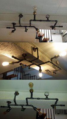 Lampe Aus Wasserrohren gleichzeitig ein ikea hack ist diese detailreiche deckenlampe. die