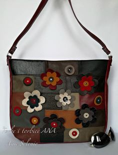 Vegan hobo bag, Vegan leather bag, Large shoulder bag, Unique handbag, Vegan flower bag, Faux leather bag, Outdoors gift, Travel gift  This is a comfortable, multi color bag and capacious bag. Its simple and functional character allows you to fit everything you need inside throughout your