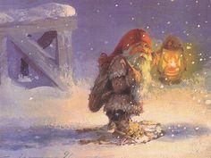 Tomten With Lantern - Svein Solem
