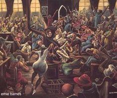 ernie barnes art ~Via Erick Garcia EG African American Artist, American Artists, African Art, Ernie Barnes, Black Love Art, Black Style, Black Art Pictures, Black Artwork, Soul Art
