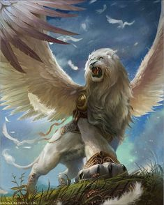 drawings in fantasy art - sphinx mythical creature drawing Mythical Creatures Art, Mythological Creatures, Magical Creatures, Mystical Animals, Creatures 3, Fantasy Artwork, Fantasy Beasts, Lion Art, Fantasy Monster