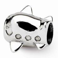 Sterling Silver Kids Airplane Bead Charm