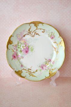 Antique Limoges Porcelain Decorative Plate / Hand Painted