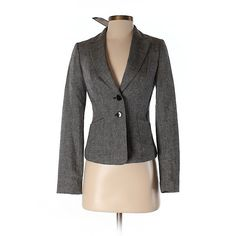 H&M Blazer ($27) ❤ liked on Polyvore featuring outerwear, jackets, blazers, grey, gray blazer, h&m blazer, grey jacket, grey blazer and h&m jackets