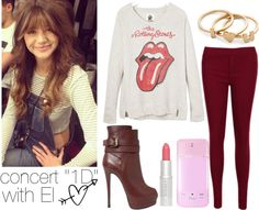 """""""concert """"1D"""" with El"""" by linusya-badoeva ❤ liked on Polyvore"""