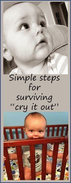 "Feeling miserable? Still not sleeping at 8, 9, 10 months? Know when it's time for ""cry it out"" and also check out these supportive tips for surviving it. #Parenting #Baby"