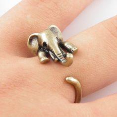 #KejaJewelry on Artfire   #ring                     #Gold #Elephant #Wrap #Ring                         Gold Elephant Wrap Ring                             http://www.seapai.com/product.aspx?PID=763475