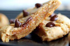 Peanut Butter-Banana Stuffed Chocolate Chip-Peanut Butter Cookies