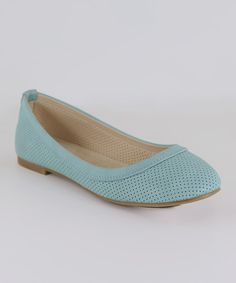 Take a look at the Anna Shoes Mint Perforated Flat on #zulily today!